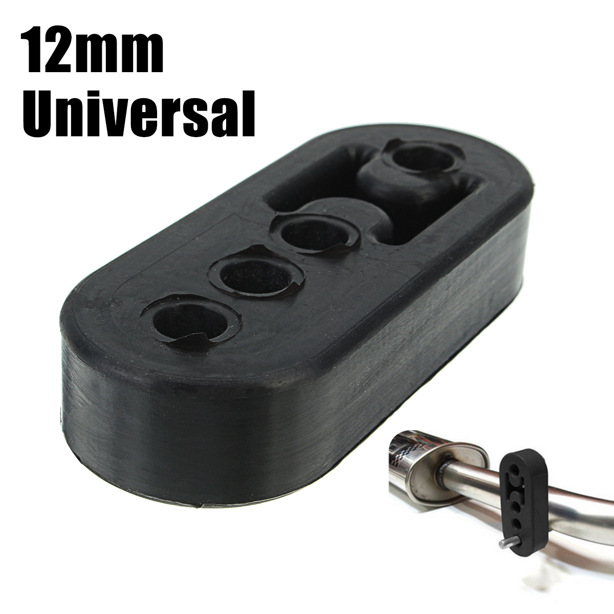 12mm 4 Holes Rubber Exhaust Hanger Bushing Black
