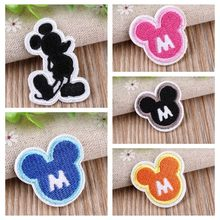 Colorful Mickey Cartoon 3D Embroidered Patches Accessories Appliques Cartoon Iron on Patch for children shirt cloth accessories(China)