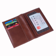 Multifunctional Real Leather Passport Cover Travel Genuine for Holder