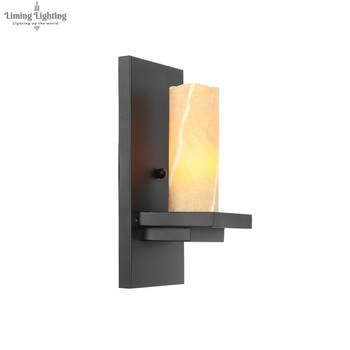 Retro Loft Style Iron Sconce Vintage Marble Wall Light For Home Antique Industrial LED Wall Lamp Indoor Lighting Luz De Pared