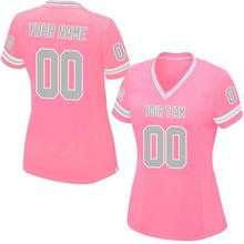 Custom Pink Mesh Replica Football Game Jersey High School College Embroidered  Team Name logo Your Number ec173e2bf