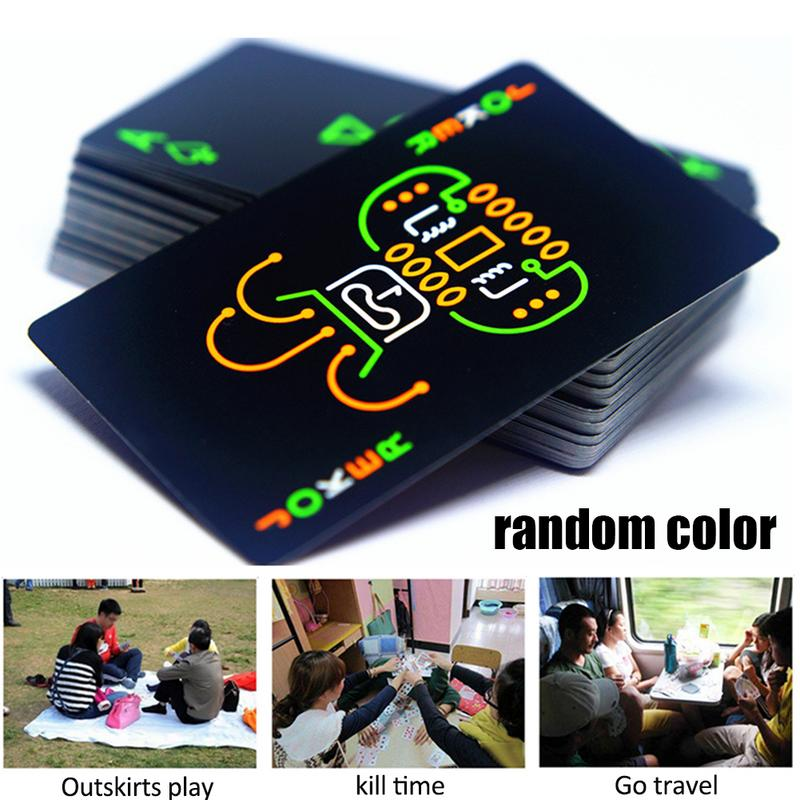 Funny Fluorescent Poker Cards Collection Special Poker Cool Black Glow In Dark Bar Party KTV Night Luminous Playing Cards