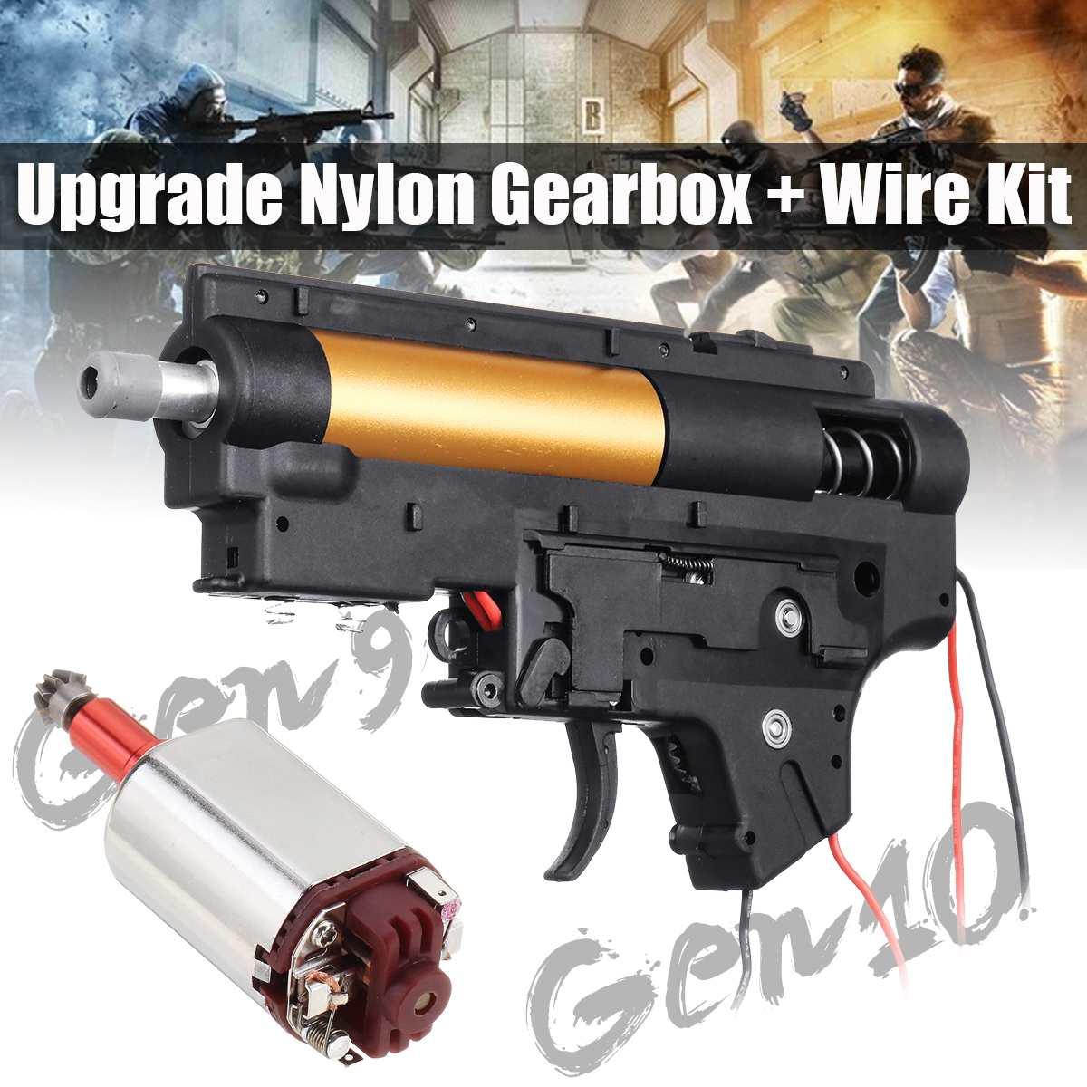Mise à niveau boîte de vitesses en Nylon + Kit de fil pour JinMing Gen9 Gen 10 jeu boule de Gel d'eau blaster jouets pistolets accessoires de remplacement