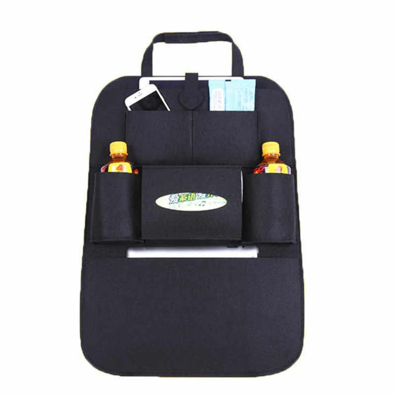 Сумка для хранения автомобиля универсальный органайзер на заднее сиденье коробка войлочные чехлы держатель для заднего кресла мульти-контейнер с карманами укладка Tidying Стайлинг