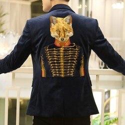 Blazer Mannen Mode Patroon Blusa Masculina Sping Merk Nieuwe Toevallige Mannelijke Blazer Masculino Enkele Knop Slim Fit Blazer Erkek