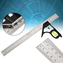 1pc 300mm Right Angle Adjustable Steel Ruler Degree Multiple Combination Square Measuring Ruler Home School Supplies Mayitr 12 inch 300mm adjustable sliding combination square ruler