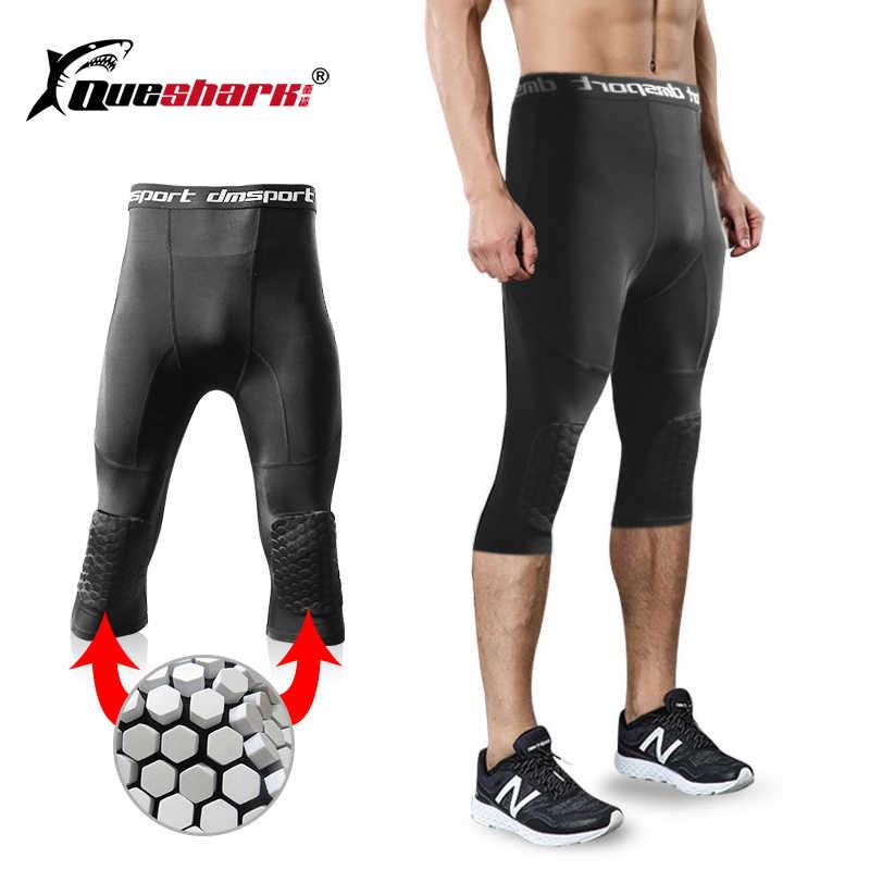 Honeybomb наколенники мужские укороченные брюки мужские компрессионные трико для бега спортивные Леггинсы Тренажерный Зал Фитнес тренировочный баскетбольный мяч брюки