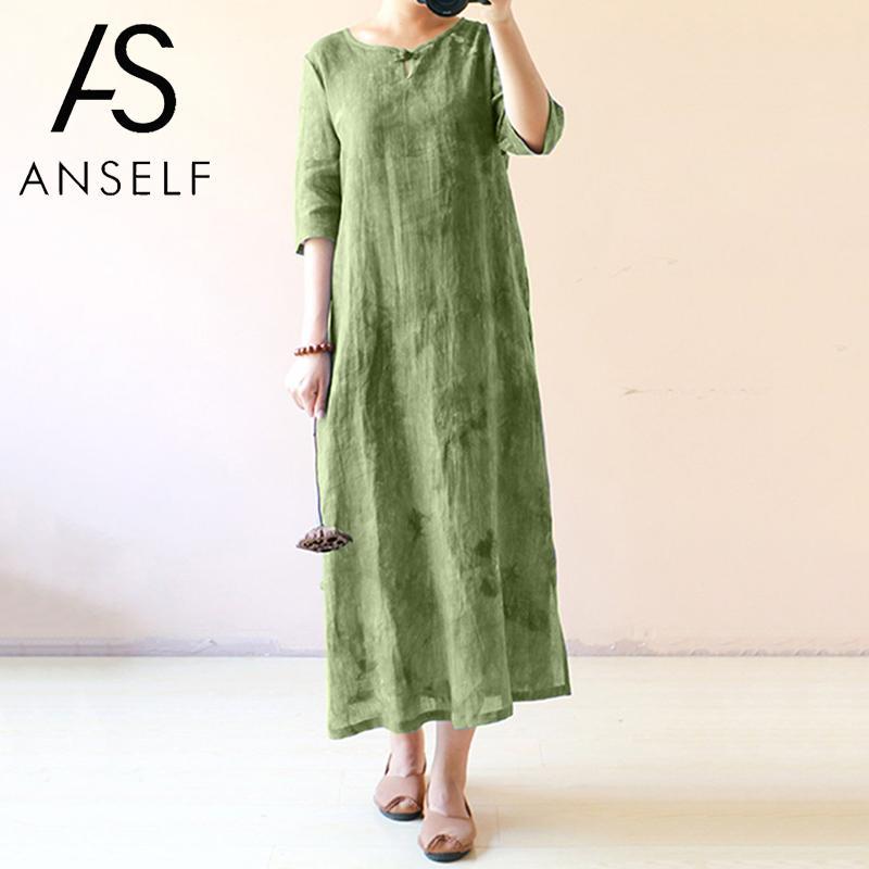 Detail Feedback Questions about 3XL 4XL 5XL Plus Size Vintage Dress Women  Long Dress Tie Dye Print Half Sleeve Splits Bandage Back Oriental Robe  female ... e8a86e357222