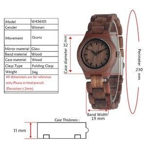 Image 2 - Einfache Reine Zifferblatt Retro Nussbaum Holz Uhr Frauen Uhr Stunden Ganze Einstellbare Holz Handgelenk Damen Uhren für frau Montre Femme