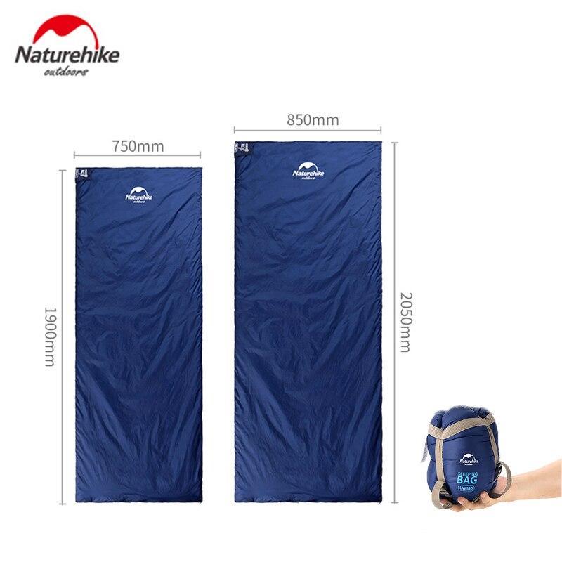 Naturehike Size 190*75cm/205*85cm Outdoor Envelope Sleeping Bag Camping Hiking Spring Autumn Sleeping Bag