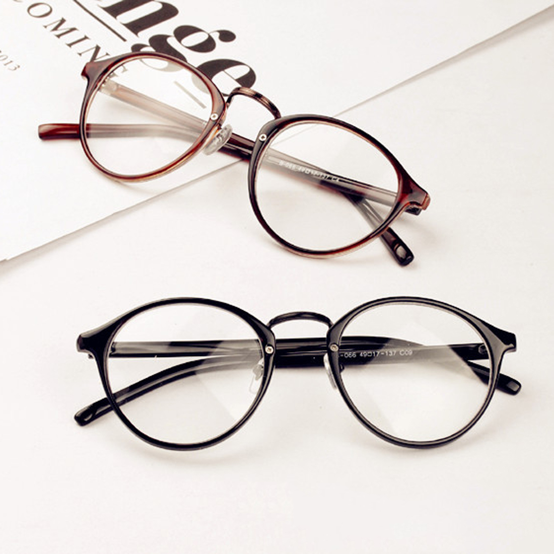 New  Return Round Optical Lens Glasses Frame Clear Glass Women Transparent Eyeglasses Women Ultra-light Eye Glasses Frame