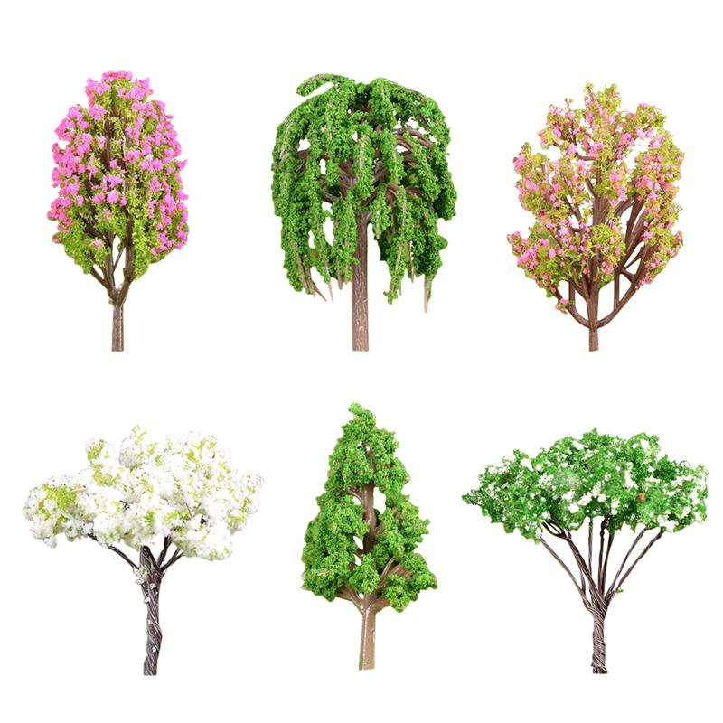 6pcs Ornaments Simulation Resin Cute DIY Plant Ornament Tree Plant Ornament Succulent Decor For Garden Home