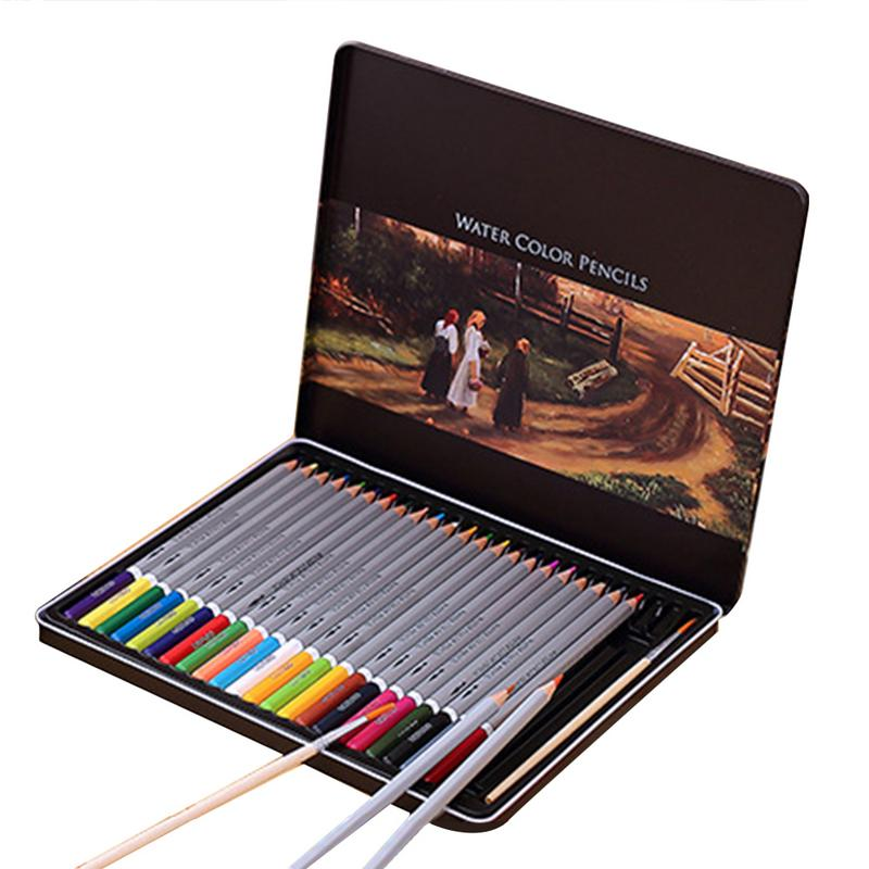 Profissional 24/36/48 pcs Cores Água-solúvel Lápis Colorido Pintura Desenho da Criança Crianças crianças Estudante de Enchimento artista Lapis