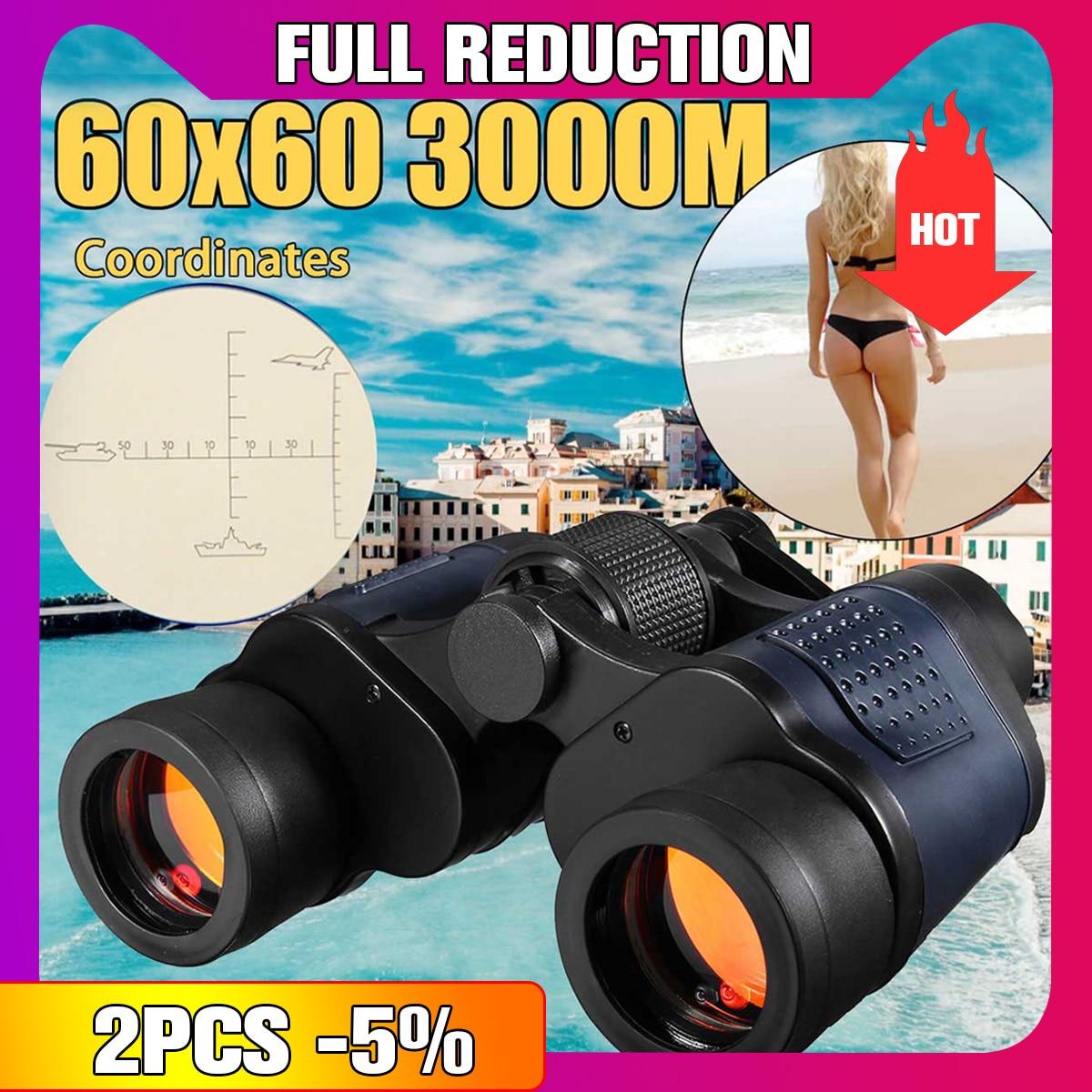 Neue 60X60 Optische Teleskop Nachtsicht Fernglas Hohe Klarheit 3000 mt fernglas spektiv outdoor Jagd sport okular