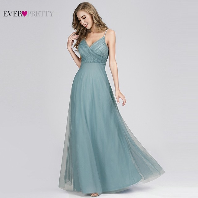 d44f49533aa Elegant Prom Dresses Long Ever Pretty EP07369 A-Line V-Neck Chiffon Cheap Women  Formal Bride Evening Gowns for Wedding Party