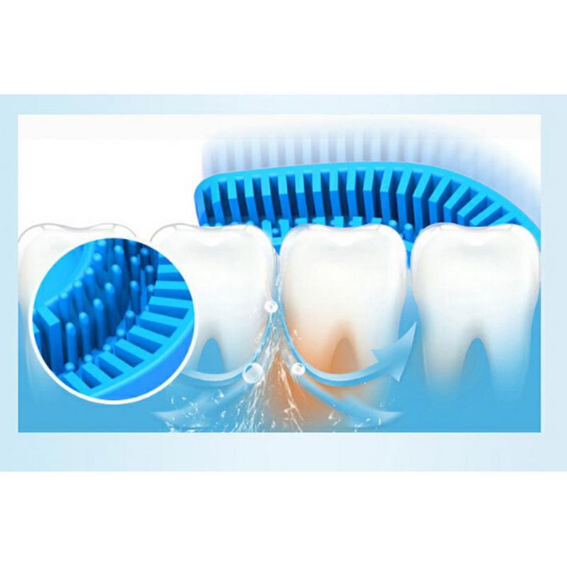 360 degrés brosse à dents électrique automatique sonique USB Rechargeable intelligente Ultra sonique silicone brosse à dents 5 Modes U Type Timer4 - 2