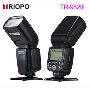 Image 2 - Triopo TR 982IIIフラッシュライトTR982IIIスピードライト高速同期i ttlフラッシュ2.4グラムワイヤレスマスタスレーブキヤノン/ニコン