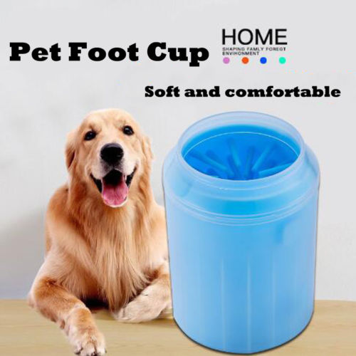 Brand New Dog Paw Cleaner Portable Pet Foot Washer Cup Soft Silicone