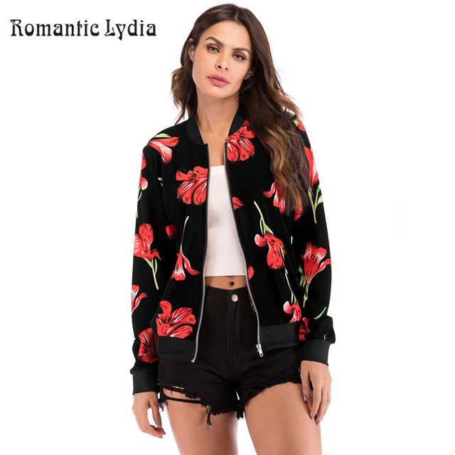 2313a172607 Autumn Outerwear   Coats Jackets Womans Ladies Retro Floral Zipper Up  Bohemian Outwear Casual Coats and Jackets Women 2018