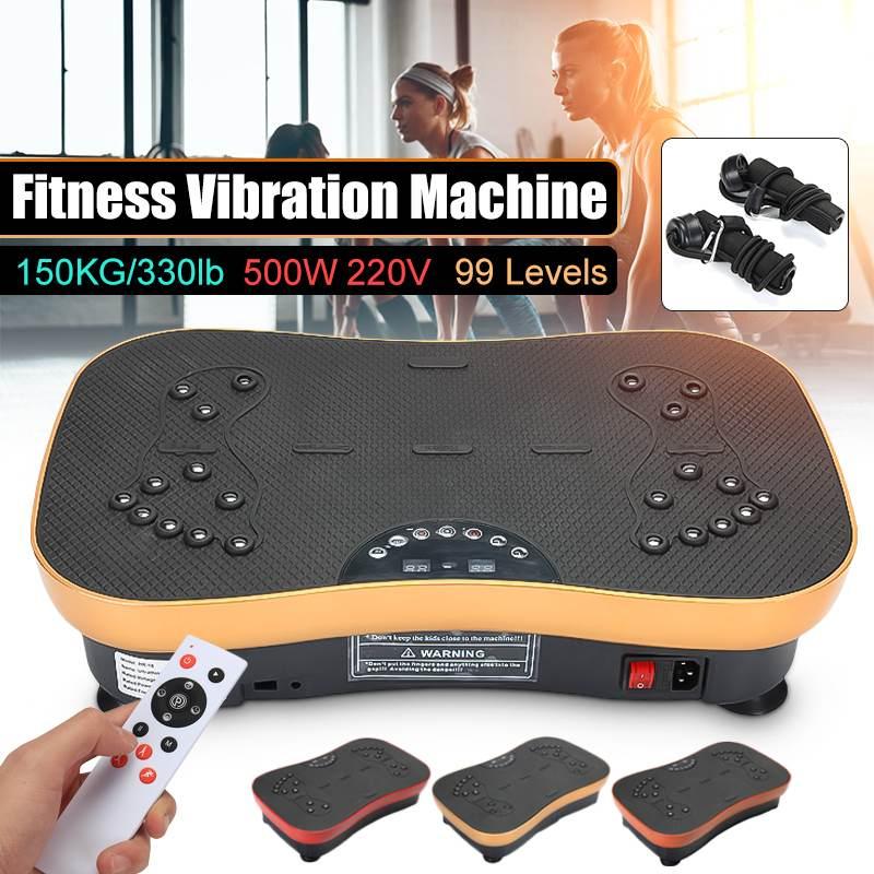 220 V 500 W Vibration Machine exercice plate-forme masseur corps Fitness à distance exercice équipement de fitness