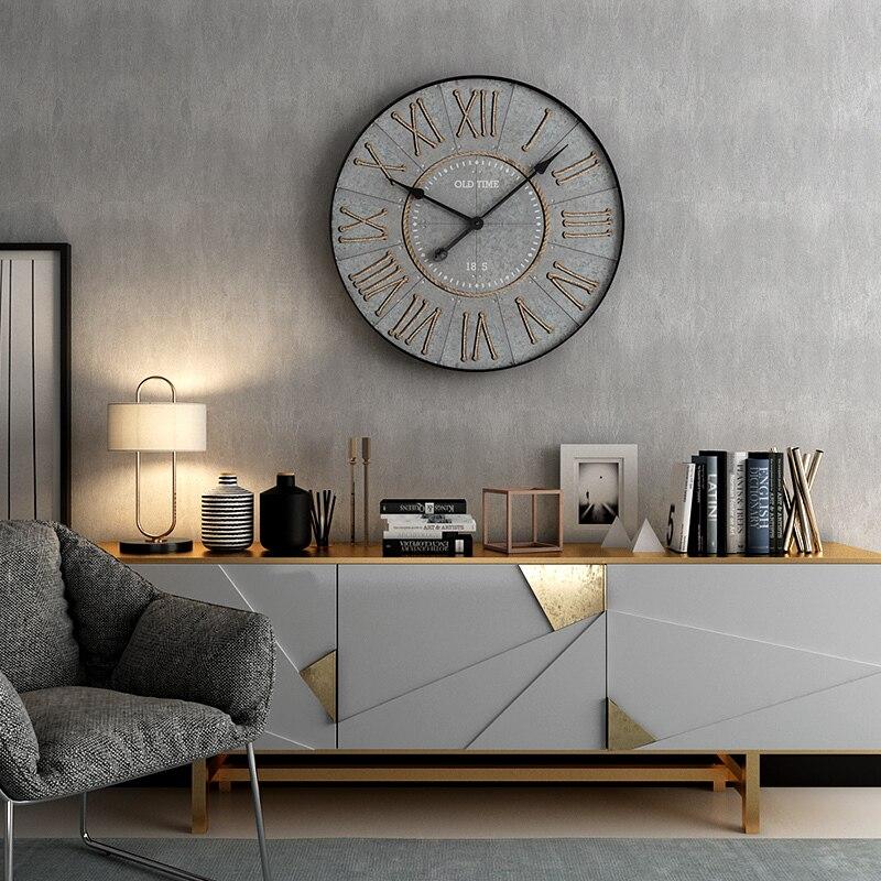 Horloge murale européenne nouvelle mode créative salon silencieux chambre horloge atmosphère art personnalité restaurant décoration horloge