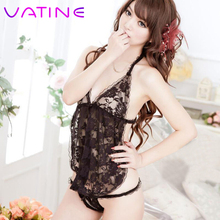 VATINE Sexy Lingerie Set Backless Exotic Apparel Erotic Underwear Apron Lace Und