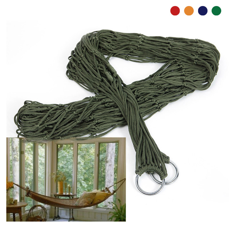 Nylon Hammock 240x80cm Hanging Beds 1 Pcs Outdoor Leisure Bed Camping Hunting Sleeping Swing Hammocks hammock tree hammocks outdoor camping child swing outdoor