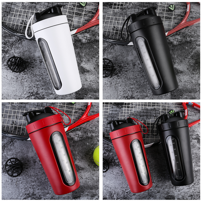 Image 5 - 700ml Protein Shaker Stainless Steel Water Bottle Outdoor Gym Sports Fitness Training Drink Powder Milk Mixer My Water BottleWater Bottles   -