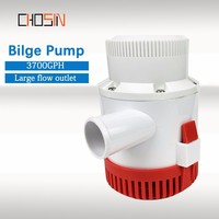 3700GPH Large Flow Dc 12v 24v Bilge Pump Electric Water Pump For Boat Accessories Marin,submersible Boat Water Pump 3700 12 24 V