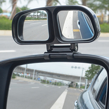 цены NEW Blind Spot Square Mirror Auto Wide Angle Side Rear View Mirror Car Double Convex Mirror Universal For Parking Left +Right