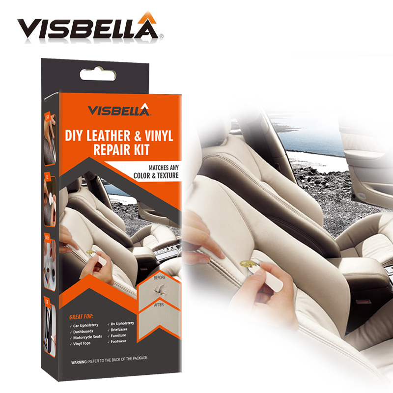 VISBELLA Leather Vinyl Repair Kit Glue Color Paste for Car Hand Tool Sets Seat Clothing Boots Rips fix Crack Cuts