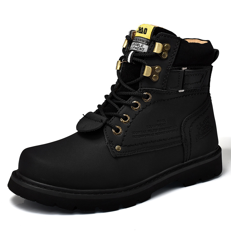 Martin Male Outdoor Couple's Female Boots High-Top Tooling Boots Big Head Shoes The British Leather Boots round Head Rhuba