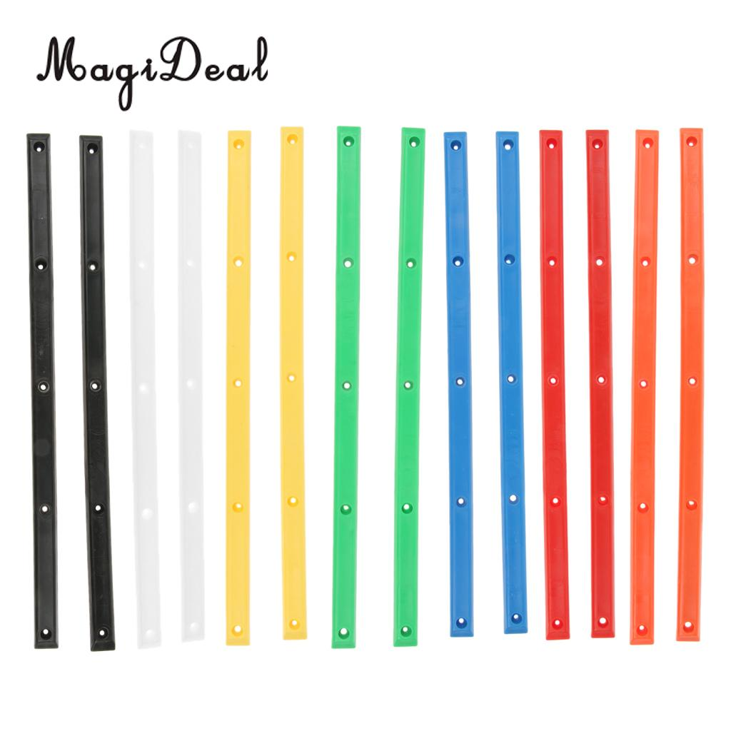 MagiDeal 1 Pair Longboard Skateboard Rails Edge Protect With 10 Mounting Screws Outdoor Sports Part