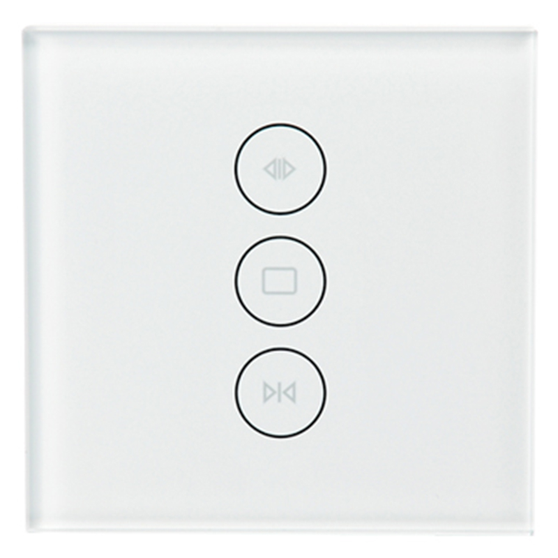 New WiFi Smart Curtain Switch Glass Panel App Remote Control Works With Alexa And Google Home Or Electric Curtain Motor