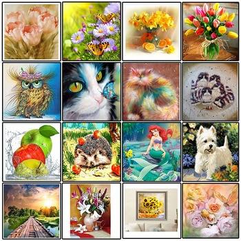New 5d Home Decor Flower Animal Diy Diamond Painting Diamond Mosaic Diamond Embroidery Painting Diamond Painting Cross Stitch фото