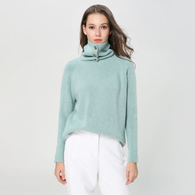 turtleneck sweater winter women thickening angora knitting pullover knitted 1895