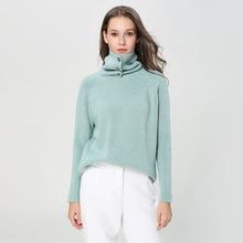 turtleneck sweater winter women thickening angora knitting pullover knitted 1895