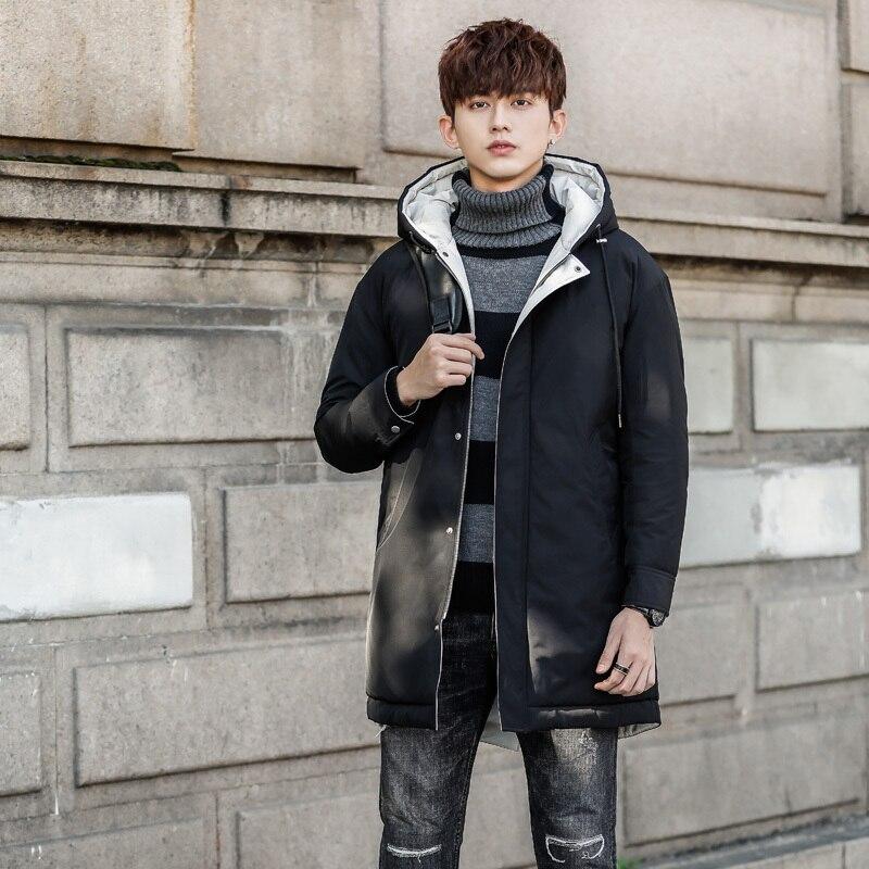 Hiver bas vestes nouveau modèle homme Long mâle lâche oie plume manteau hommes vêtements livraison gratuite