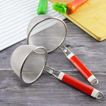 1 ud. Cesta de Pasta de acero inoxidable malla araña comida Dumpling fideo malla colador Micro-perforado tamiz Skimmer para la cocina