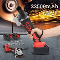168vf 22500mAh Electric Disc Brushless Angle Grinder with Cutting Sanding Disc set Wood Grinder Cutter Polisher Machine Tool Set