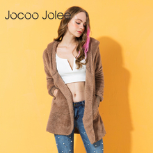 Jocoo Jolee элегантное женское пальто из искусственного меха осень зима теплая мягкая меховая куртка на молнии Женская плюшевая Верхняя одежда Повседневная Верхняя одежда