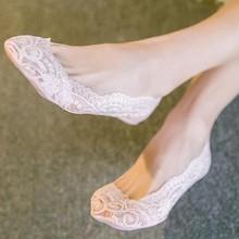 Anti-Slip Lace Boat Socks Summer women girl Silica Gel Invisible Cotton Sole  totoro socks