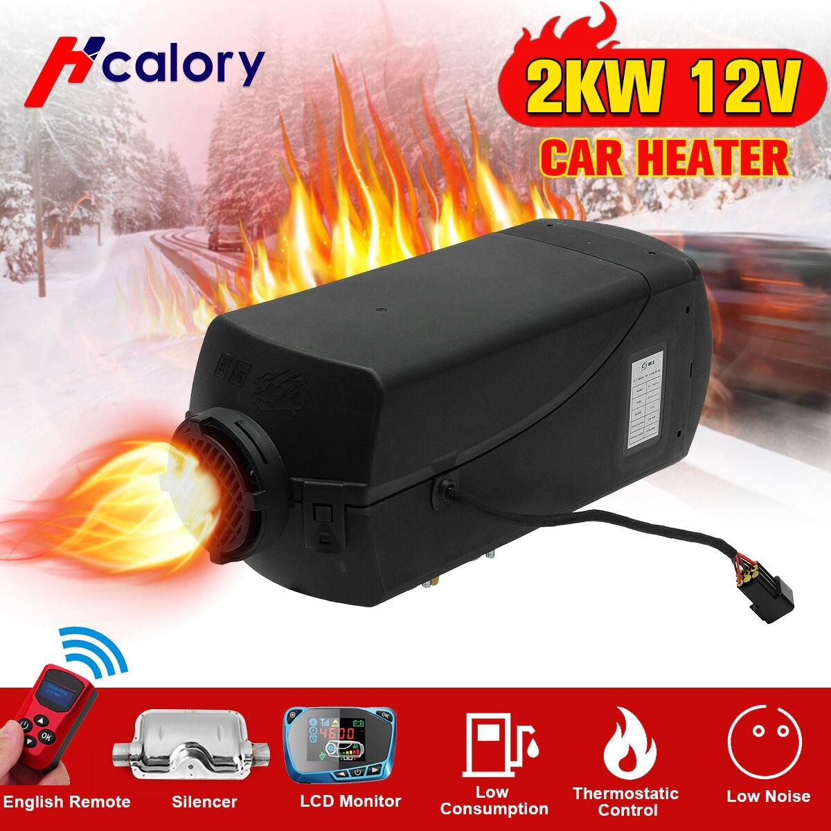Aquecedor do carro 2KW 12V Ar Diesel Aquecedor de Estacionamento Aquecedor Com Controle Remoto Monitor LCD Para RV, motorhome Reboque, Caminhões, Barcos