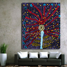 Yayoi Kusama colorful tree Abstract picture of Wall Painting Home Decorative Art Picture Hand Painted Oil Painting on Canvas(China)