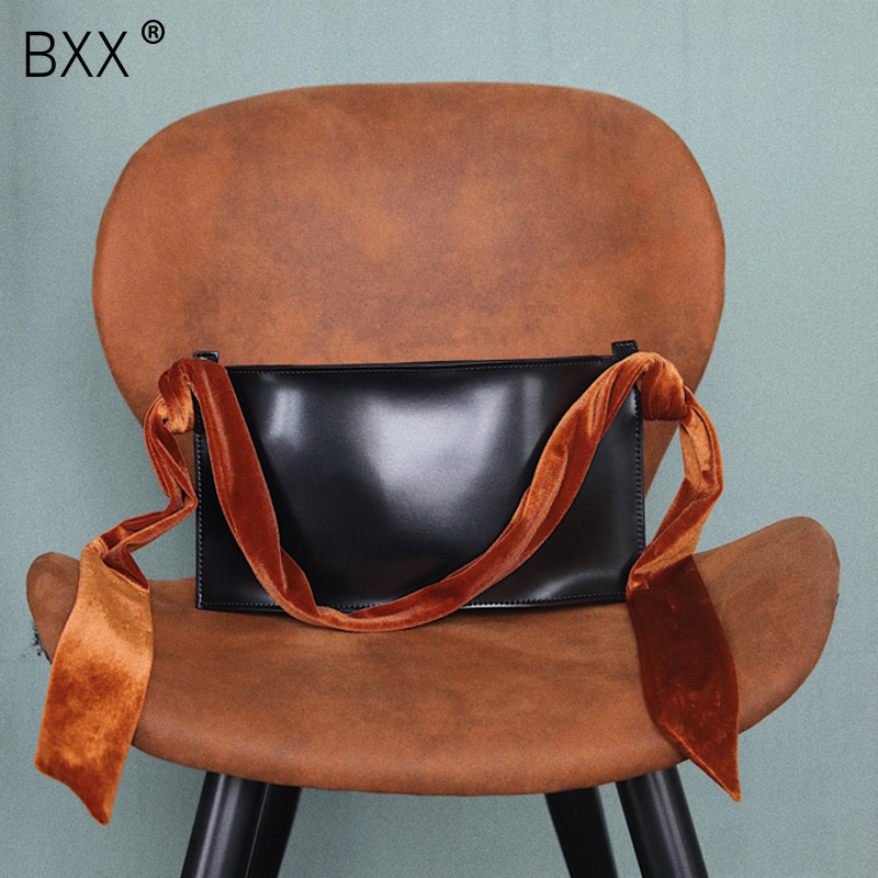bxx Friendly 2019 New Womens Scarf Beading All-match Pu Leather Bag Luxury Handbags Ladies Vintage Messenger Shoulder Bags He353 Without Return