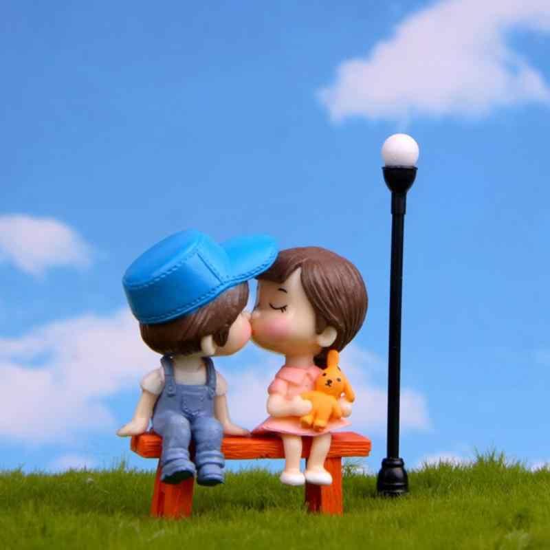 3 шт./компл. милые влюбленные стул Миниатюрная модель Пейзаж DIY Садоводство украшение для сада кукла игрушка орнамент ручной работы ремесло игрушка