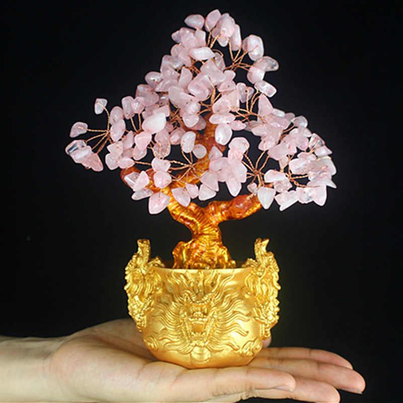 1 шт. x фэн-шуй деньги счастливые богатые дерево ремесло натуральный кристалл офис Домашний декор комнаты