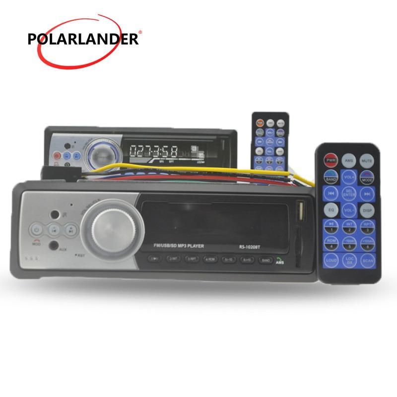 FM приемник 1 DIN автомобильный аудио стерео Bluetooth USB/SD/MMC кардридер Aux вход MP3 MMC WMA радио плеер дистанционное управление в тире