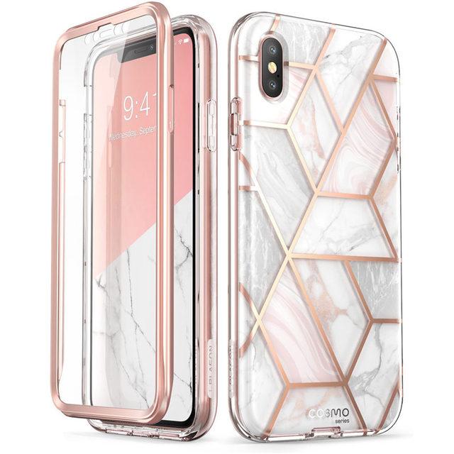 Cho iPhone Xs Max 6.5 Inch Tôi Blason Cosmo Series Toàn Cơ Long Lanh Đá Cẩm Thạch Ốp Lưng Ốp Lưng xây Dựng Trong Tấm Bảo Vệ Màn Hình
