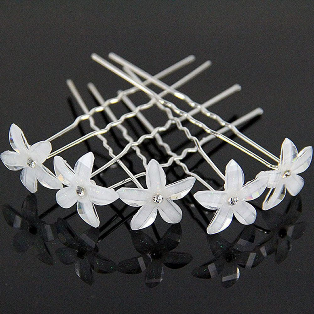 Styling Tools Hair Care & Styling 2019 New 10/ 20pc/set Women Crystal Rhinestone Flower Hair Pins Clips Wedding Bridal Barrettes Hairpins Hair Styling Accessories